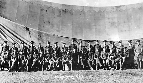 Officers of 211 Squadron RAF 13 November 1918