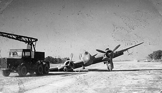 Beaufighter prang 211 Sqn