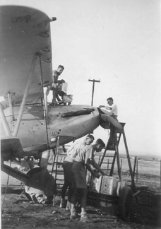 211 Squadron Hind refuelling Ramleh 1938